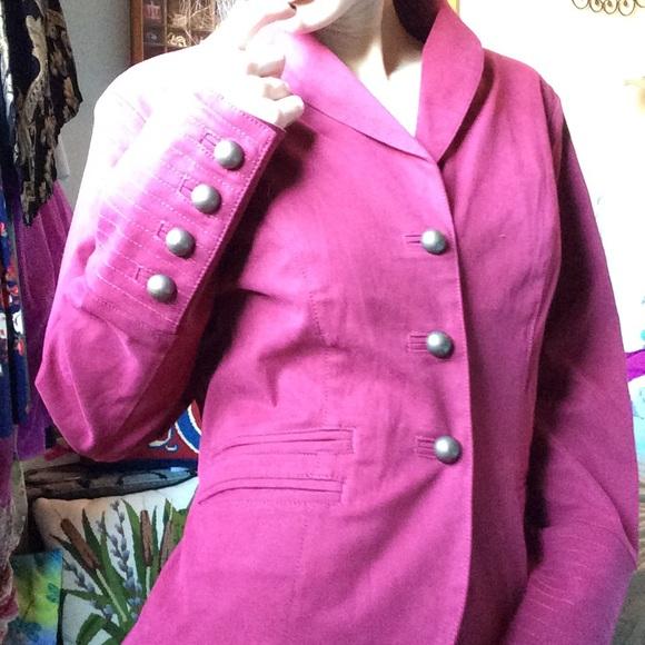 Nordstrom Jackets & Blazers - Rugged Military Button Burnt Maroon Blazer silk